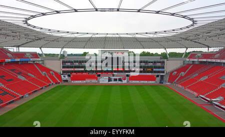 Fußball Stadion BayArena, Heimspielstätte der Bundesliga club Bayer Leverkusen, Deutschland, Nordrhein-Westfalen, - Stockfoto