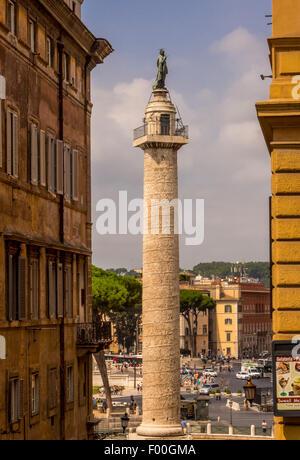Trajanssäule. Rom, Italien. - Stockfoto