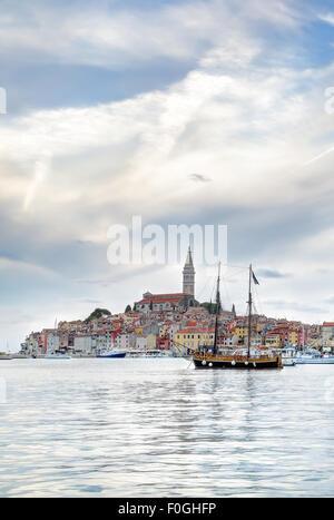 Istrische Altstadt von Rovinj oder Rovigno in Kroatien - Stockfoto