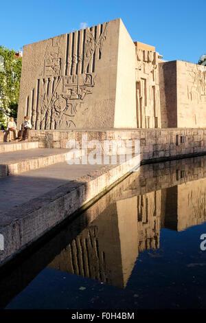 Denkmal für Christopher Columbus in der Plaza de Colón, Madrid Spanien. - Stockfoto