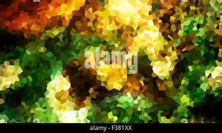 Zusammenfassung Hintergrund mit geometrischen Formen in grün, gelb und Ocre Tönen - Stockfoto