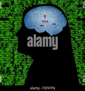 Idee im Kopf - Stockfoto