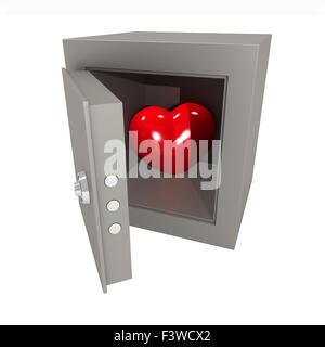 Herz im safe - Stockfoto