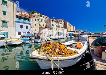 Alten Fischer-Hafen in Sibenik, Dalmatien, Kroatien - Stockfoto