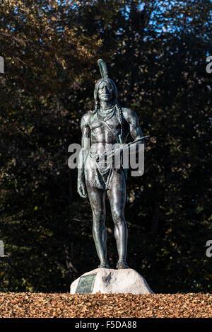 Die große Sachem ist der Native American aus der Wampanoag Nation, die die ersten Pilger auf Plymouth landete geholfen. - Stockfoto