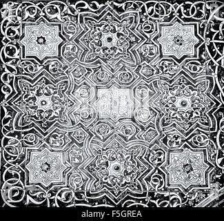 Gekachelter Hintergrund mit orientalischen Ornamenten - Stockfoto