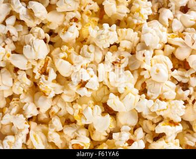 Nahaufnahme Bild von Popcorn. Hintergrund oder Textur - Stockfoto