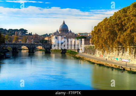 Rom, Saint Angel Castle, St. Peter und Vatican.Italy. - Stockfoto