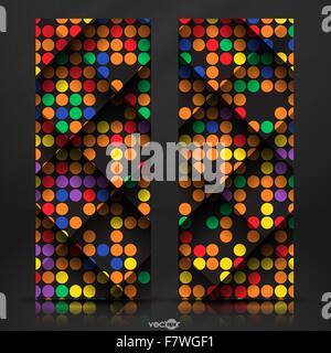 Abstrakte bunte Mosaik Musterdesign. - Stockfoto