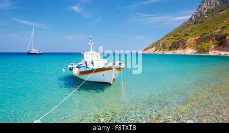Kos - Dodekanes-Inseln, Griechenland, das Fischerboot in Kamari Dorf - Stockfoto