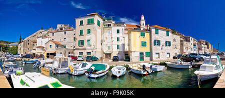 Sibenik historischen Hafen-Panorama-Aussicht, Dalmatien, Kroatien - Stockfoto