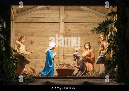 Kirche Christi Geburt Anzeige in der Nacht. Banbury, Oxfordshire, England - Stockfoto