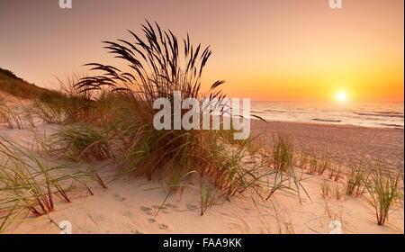 Landschaft am Ostsee Strand Sonnenuntergang, Polen - Stockfoto