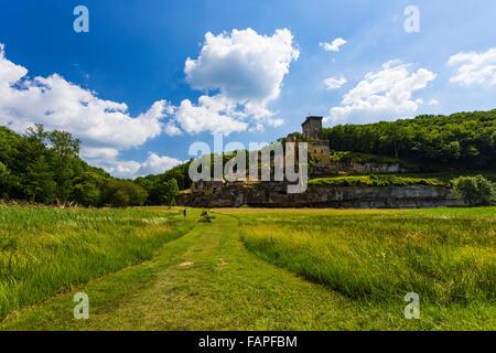 Château de Commarque (Commarque Burg), Les Eyzies-de-Tayac-Sireuil, Frankreich - Stockfoto