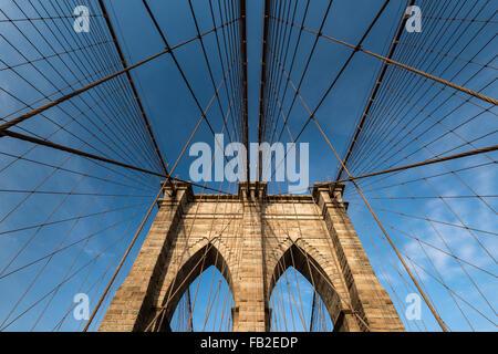 Brooklyn Bridge, New York, USA - Stockfoto