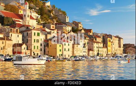 Kroatien - Sibenik, historischen Stadt an der kroatischen Küste, Zentral Dalmatien (UNESCO) - Stockfoto
