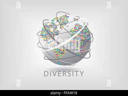 Bunte Vielfalt auf der ganzen Welt - Stockfoto
