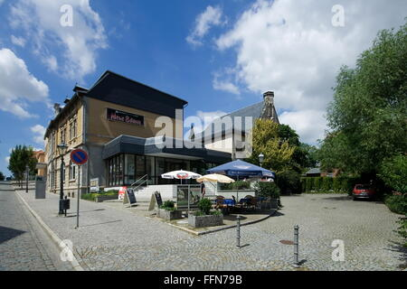 Geographie/Reisen, Deutschland, Sachsen-Anhalt, Quedlinburg, Gebäude, Theater/Theater, Marschlinger Hof, Außenansicht, - Stockfoto