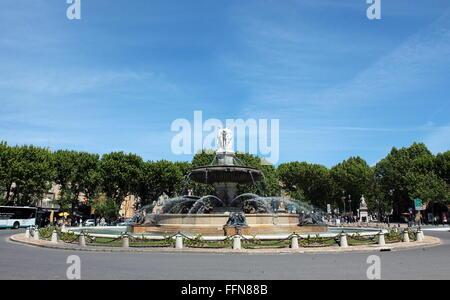 Geographie/reisen, Frankreich, Aix-en-Provence, Place de la Rotonde, Brunnen im Jahre 1860 erbaut, Additional-Rights - Stockfoto