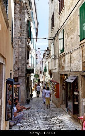 Geographie/Reisen, Kroatien, Istrien, Rovinj, main Gasse in der Altstadt, Additional-Rights - Clearance-Info - Not - Stockfoto