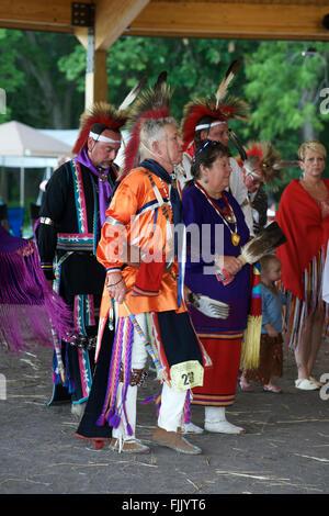 Council Grove, Morris County, Kansas, USA, 20. Juni 2015 die Kaw Nation erste Pow Wow in 142 Jahre. Bildnachweis: - Stockfoto