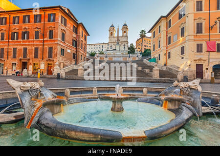Spanische Treppe am Morgen, Rom - Stockfoto