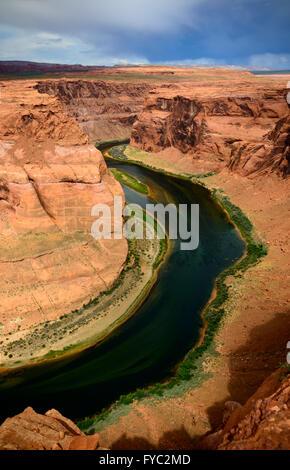 Der Horseshoe Bend - Stockfoto