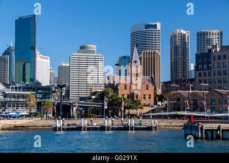 Der Felsen historischen Erbes Bezirk Uferpromenade mit Aiustralasian Steam Navigation Company Gebäude prominente - Stockfoto