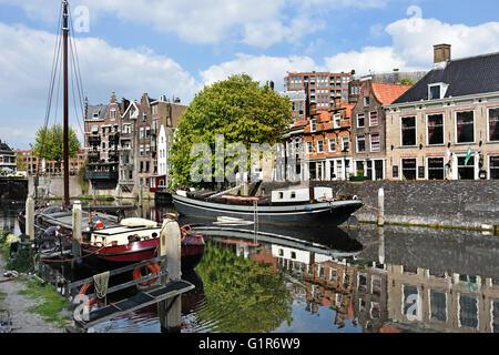 Im Juli 1620 reiste Speedwell Delfshaven an Mayflower Rotterdamer Hafen Hafen - Stockfoto
