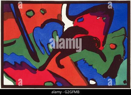 Franz Marc und Wassily Kandinsky, veröffentlicht von R. Piper & Co. - Der Blaue Reiter (The Blue Ride) - Museum - Stockfoto