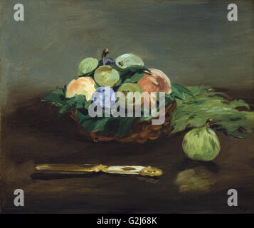 Edouard Manet - Obstkorb - Museum of Fine Arts, Boston - Stockfoto