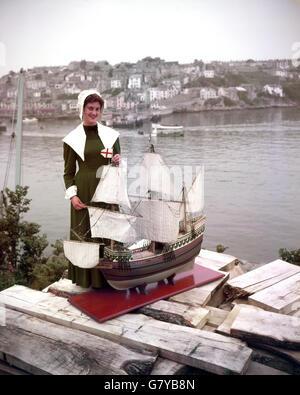 Transport - Mayflower II Replica Schiff bauen - Brixham - Stockfoto
