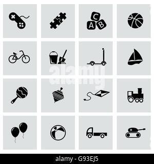 Vector schwarz-Spielzeug-Icon-set - Stockfoto