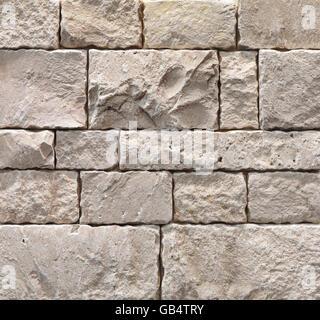 Elfenbein Durango Splitface Fliesen, Stein Außenende, Textur, Hintergrund - Stockfoto