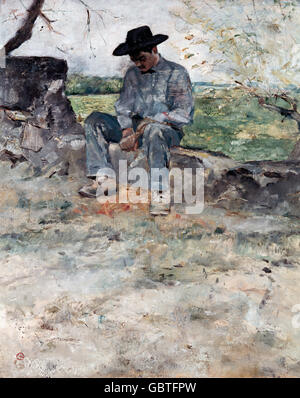 """Bildende Kunst, Toulouse-Lautrec, Henri de (1864-1901), Malerei, """"Le Jeune Routy eine Celeyran"""" (der junge Routy - Stockfoto"""