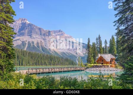 Emerald Lake, Yoho Nationalpark, Britisch-Kolumbien, Kanada - Stockfoto