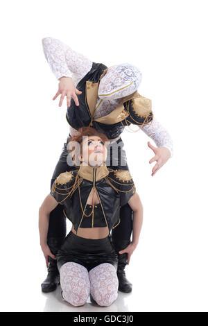 Emotionale Jugendliche tanzen im studio - Stockfoto