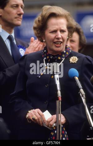 Frau Maggie Margaret Thatcher Unterhauswahlen 1983. Vereinigtes Königreich. HOMER SYKES - Stockfoto