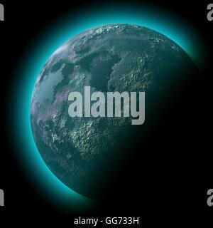 Planeten-Weltraum-Abbildung - Stockfoto