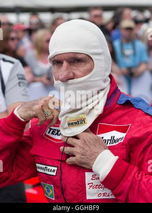 Emerson Fittipaldi, Goodwood Festival of Speed 2014, Rennen, Autorennen, Oldtimer, Chichester, Sussex, Großbritannien, - Stockfoto