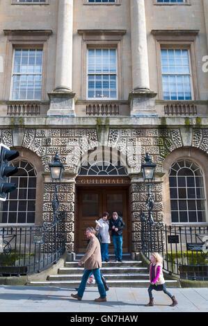 Die Guildhall-Fassade in Bath, Somerset, England, UK - Stockfoto