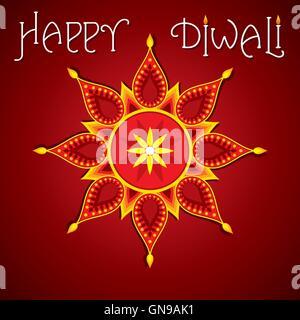 Happy Diwali Poster oder Gruß design - Stockfoto