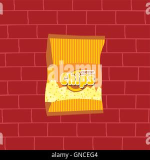 leckere Pommes frites Snacks Thema - Stockfoto