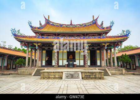 Taipeh, Taiwan - 24. Oktober 2015: Der Taipeh Konfuzius Tempel in Taiwan. - Stockfoto