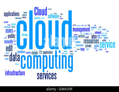 Cloud-computing Text cloud - Stockfoto