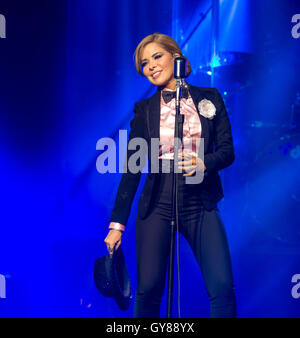 Las Vegas, Nevada, USA. 17. September 2016. Glloria Trevi führt auf The Chelsea im The Cosmopolitan of Las Vegas - Stockfoto