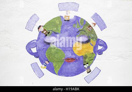 Union in das Land der Menschen verschiedener Nationalitäten - Stockfoto