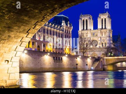 Die katholische Notre Dame Kathedrale, Paris, Frankreich. - Stockfoto