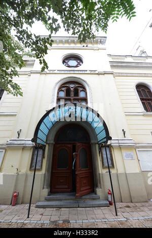 Das jüdische Museum in Bukarest befindet sich in einer alten Synagoge. - Stockfoto