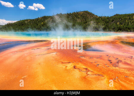 Grand Prismatic Spring, Yellowstone National Park - Stockfoto